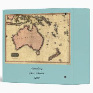 1818 Australasia Map - Australia, New Zealand 3 Ring Binder