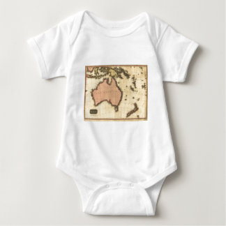 1818 Australasia  Map - Australia, New Zealand Baby Bodysuit