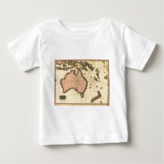 1818 Australasia  Map - Australia, New Zealand Baby T-Shirt