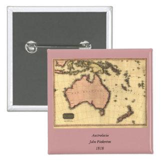 1818 Australasia  Map - Australia, New Zealand Button