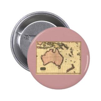 1818 Australasia  Map - Australia, New Zealand Pins