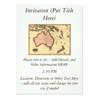 1818 Australasia Map - Australia, New Zealand Card