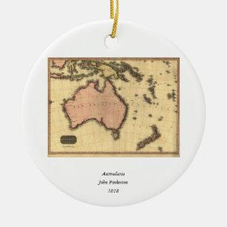 1818 Australasia Map - Australia, New Zealand Ceramic Ornament