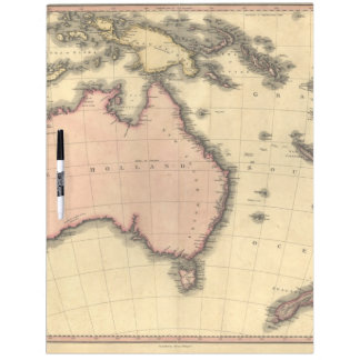 1818 Australasia Map - Australia, New Zealand Dry Erase Board