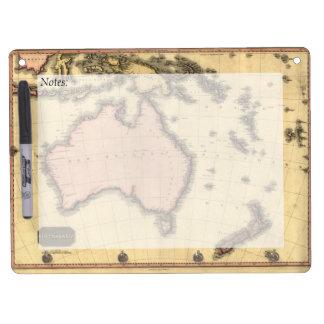 1818 Australasia Map - Australia, New Zealand Dry Erase Board With Keychain Holder