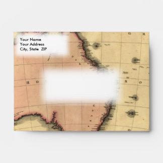 1818 Australasia  Map - Australia, New Zealand Envelopes