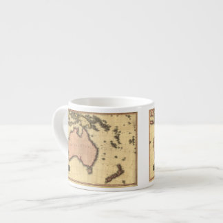 1818 Australasia Map - Australia, New Zealand Espresso Cup