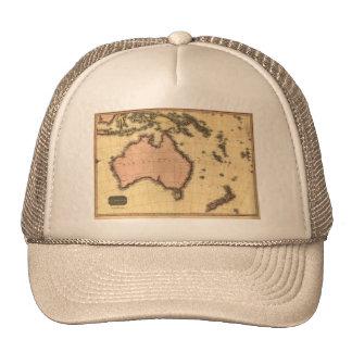 1818 Australasia  Map - Australia, New Zealand Mesh Hat