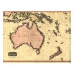1818 Australasia  Map - Australia, New Zealand Custom Invite