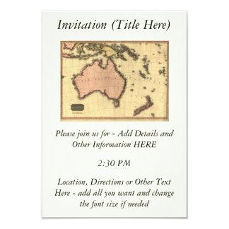 1818 Australasia Map - Australia, New Zealand Invites