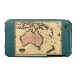 1818 Australasia  Map - Australia, New Zealand iPhone 3 Case-Mate Case