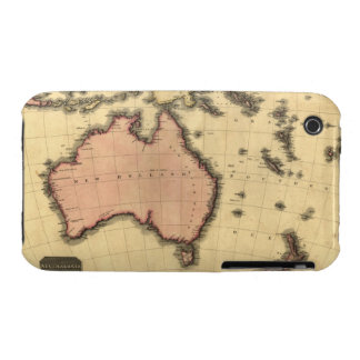 1818 Australasia  Map - Australia, New Zealand iPhone 3 Cases