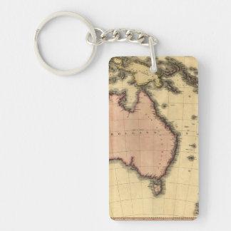 1818 Australasia Map - Australia, New Zealand Acrylic Keychains