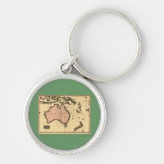 1818 Australasia  Map - Australia, New Zealand Key Chains