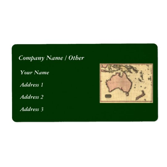 1818 Australasia  Map - Australia, New Zealand Label