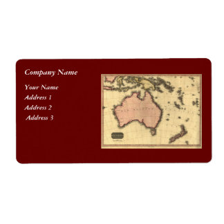 1818 Australasia  Map - Australia, New Zealand Label