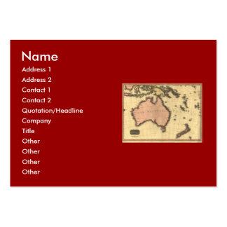 1818 Australasia  Map - Australia, New Zealand Large Business Card