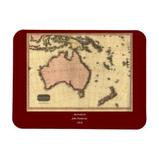1818 Australasia Map - Australia, New Zealand Magnet