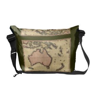 1818 Australasia Map - Australia, New Zealand Commuter Bag