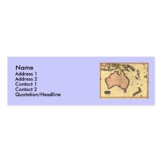 1818 Australasia  Map - Australia, New Zealand Mini Business Card