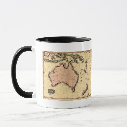 1818 Australasia  Map - Australia, New Zealand Mug