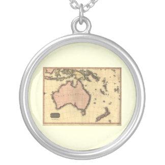 1818 Australasia  Map - Australia, New Zealand Custom Jewelry