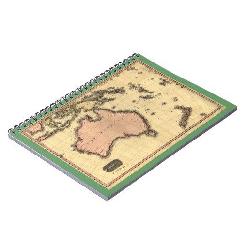 1818 Australasia Map - Australia, New Zealand Note Book