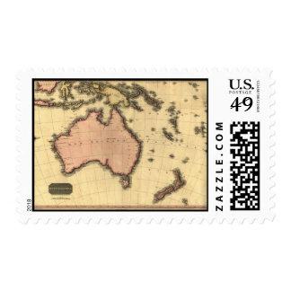 1818 Australasia Map - Australia, New Zealand Postage