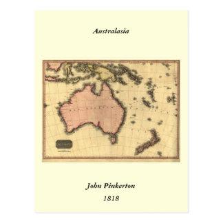 1818 Australasia Map - Australia, New Zealand Post Cards