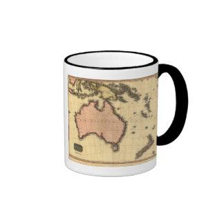 1818 Australasia  Map - Australia, New Zealand Ringer Mug