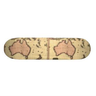 1818 Australasia Map - Australia, New Zealand Skateboard Deck