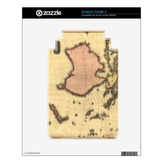 1818 Australasia Map - Australia, New Zealand Decal For Kindle 3