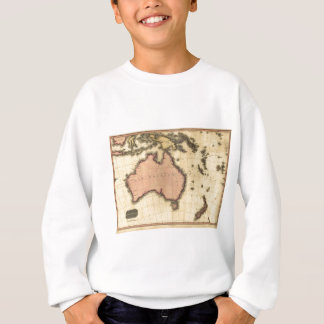 1818 Australasia  Map - Australia, New Zealand Sweatshirt