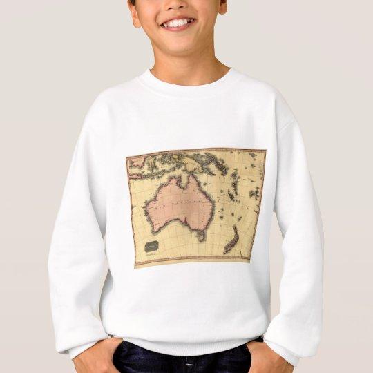 1818 Australasia  Map - Australia, New Zealand Sweatshirt
