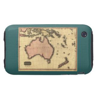 1818 Australasia  Map - Australia, New Zealand Tough iPhone 3 Case