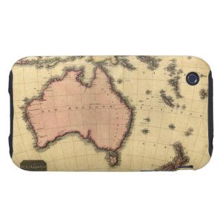 1818 Australasia  Map - Australia, New Zealand Tough iPhone 3 Covers