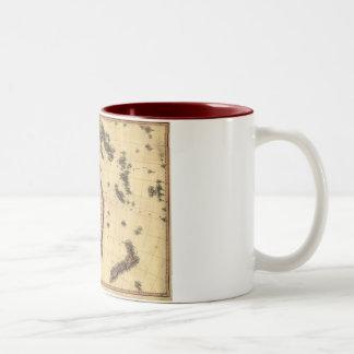 1818 Australasia  Map - Australia, New Zealand Two-Tone Coffee Mug