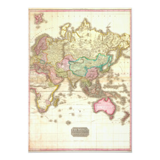 1818 John Pinkerton Map of the Eastern Hemisphere Personalized Announcement
