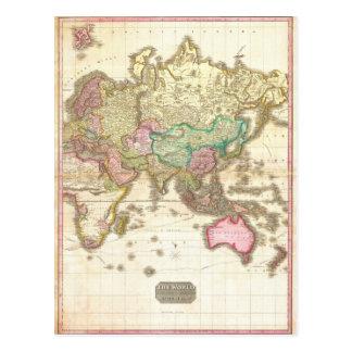 1818 John Pinkerton Map of the Eastern Hemisphere Postcards