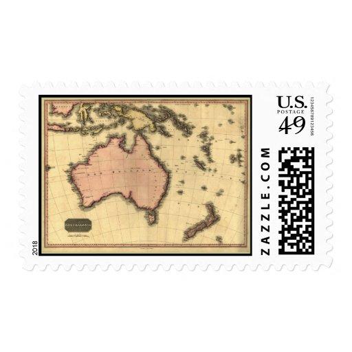 1818 mapa de Australasia - Australia, Nueva Envio