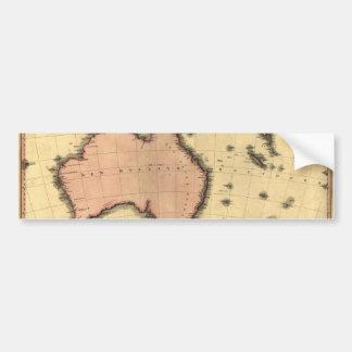 1818 mapa de Australasia - Australia, Nueva Pegatina Para Auto