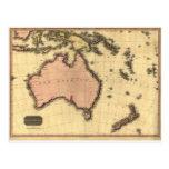 1818 mapa de Australasia - Australia, Nueva Postal