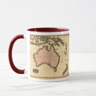 1818 mapa de Australasia - Australia, Nueva Taza
