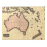 1818 mapa de Australasia - Australia, Nueva Zeland Bloc De Notas
