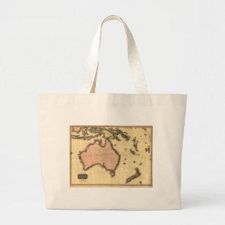 1818 mapa de Australasia - Australia, Nueva Zeland Bolsa Tela Grande