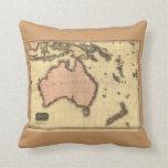 1818 mapa de Australasia - Australia, Nueva Zeland Cojin