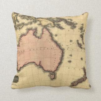 1818 mapa de Australasia - Australia, Nueva Zeland Cojines