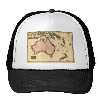 1818 mapa de Australasia - Australia, Nueva Zeland Gorra