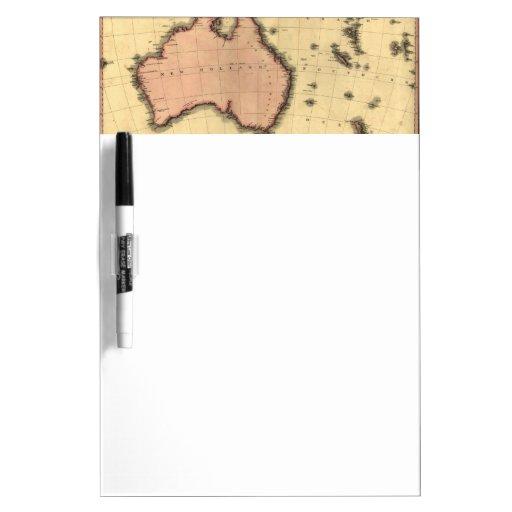 1818 mapa de Australasia - Australia, Nueva Zeland Pizarras