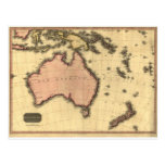 1818 mapa de Australasia - Australia, Nueva Zeland Tarjetas Postales